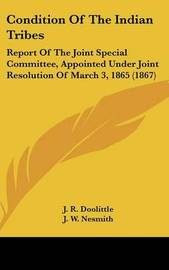 Condition Of The Indian Tribes: Report Of The Joint Special Committee, Appointed Under Joint Resolution Of March 3, 1865 (1867) by L. S. Scott image