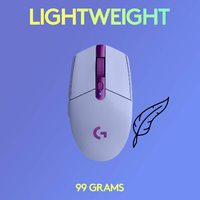 Logitech G305 LIGHTSPEED Wireless Gaming Mouse - Lilac for PC