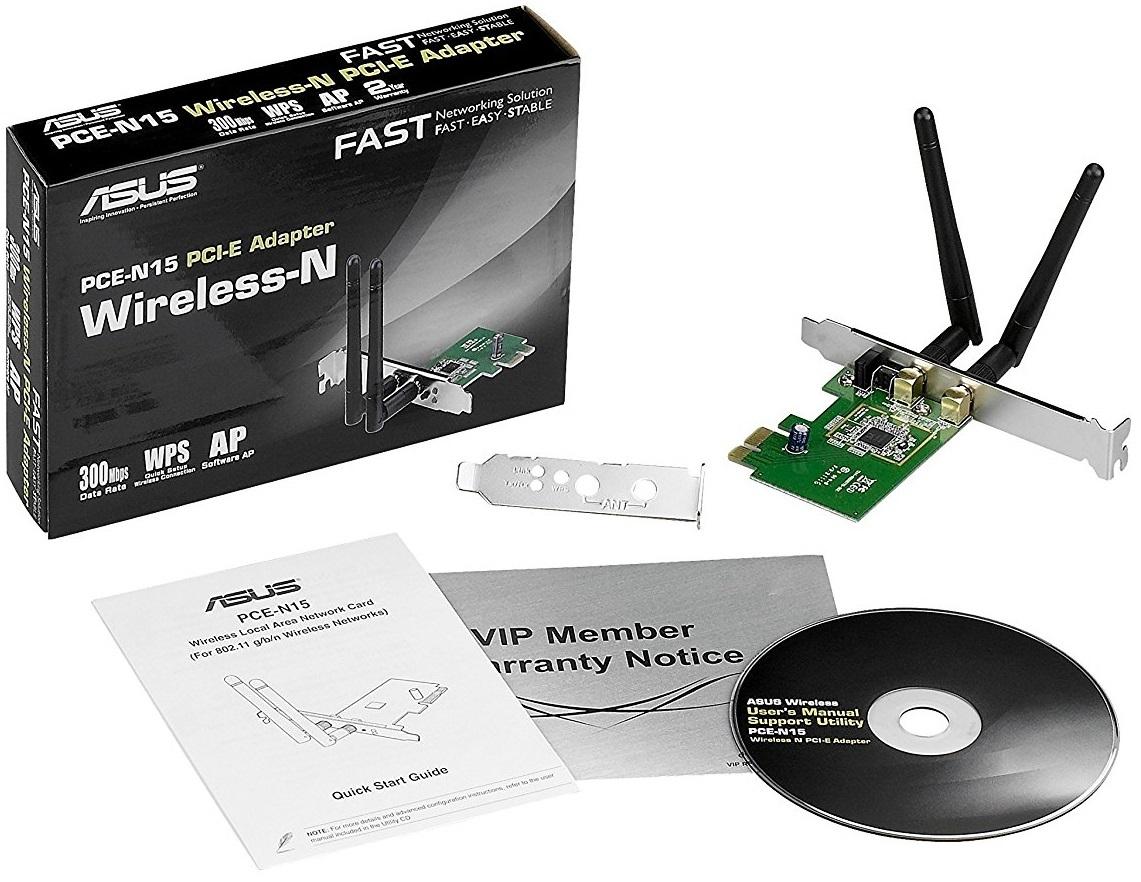 Asus 300Mbps Wireless PCI-Express 802.11 b/g/n image