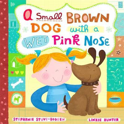 A Small Brown Dog With A Wet Pink Nose by Linzie Hunter