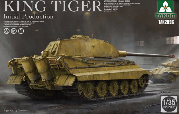 Takom: 1/35 King Tiger (Initial Production) - Model Kit