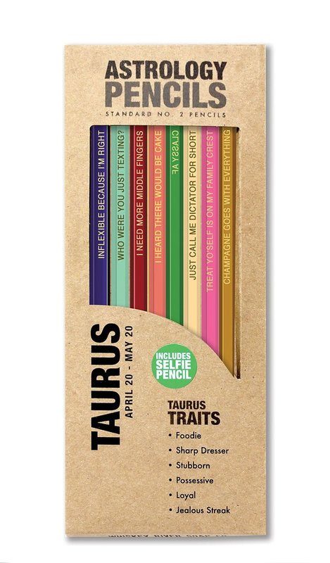 Whiskey River Co: Astrology Pencil - Taurus (8 Pack)