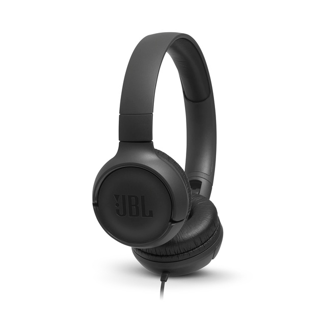 JBL T500 Wired Headphones - Black