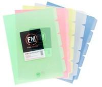 FM A4 5-Tab L Shape Pockets - Yellow (Pack 5)