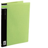 FM A4 20 Pocket Vivid Display Book - Lime Green