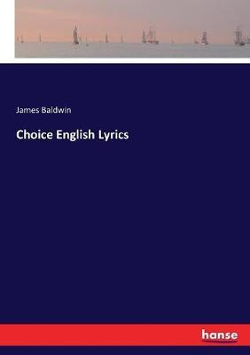 Choice English Lyrics by James Baldwin