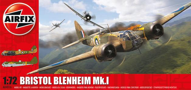 Airfix Kitset - Military Aircraft 1:72 - Bristol Blenheim Mk1 (Bomber)