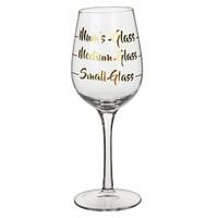 Mum's Gold Wine Glass
