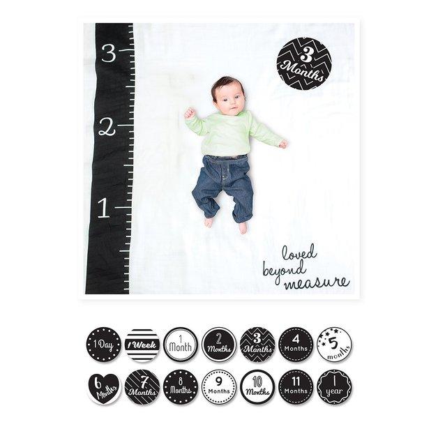 Lulujo's Baby First Year Milestone Blanket & Cards Set - Loved Beyond Measure