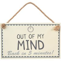 Out Of My Mind Wall Sign