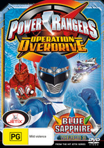 Power Rangers - Operation Overdrive: Vol. 3 - Blue Sapphire on DVD