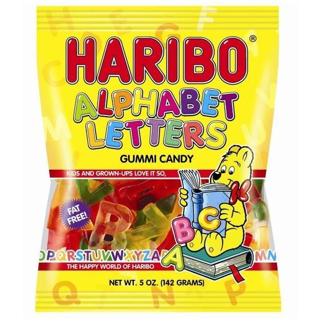 Haribo Alphabet Letters Gummi Candy (142gms)