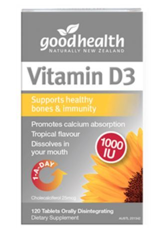 Good Health Vitamin D3 1000IU (120 Tablets)