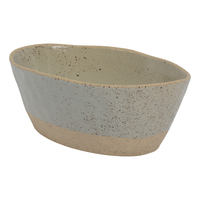 Luna Large Oval Bowl - Grey
