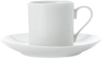 Casa Domani Casual White Straight Demi Cup & Saucer 120ML