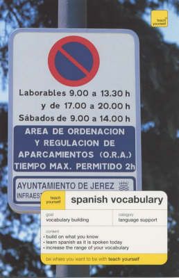 Teachb Yourself Spanish Vocabulary by Mike Zollo image