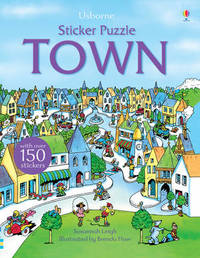 Sticker Puzzle Town by Susannah Leigh