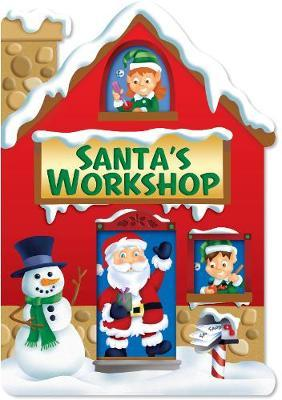 Christmas House Board Book Santa's Workshop Red
