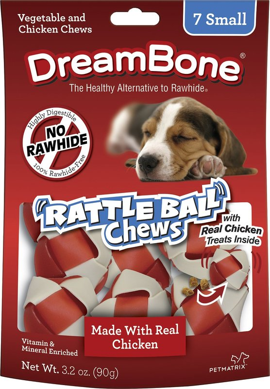 Dreambones Dog Rattleball Chews 7pk 91g