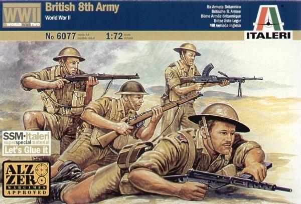 Italeri British 8th Army (WWII) 1:72 Model Kit