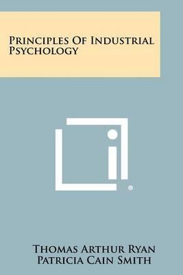 Principles of Industrial Psychology by Thomas Arthur Ryan image