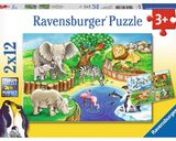 Ravensburger: Animals in the Zoo - 2x12pc Puzzle