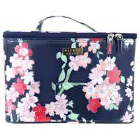Wicked Sista Lyrical Blooms Navy Large Beauty Case