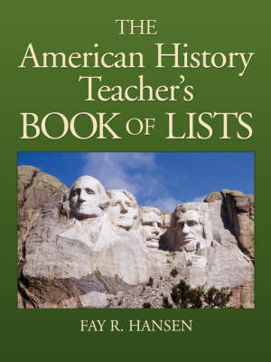 American History Teachers Book of Lists by FR Hansen image