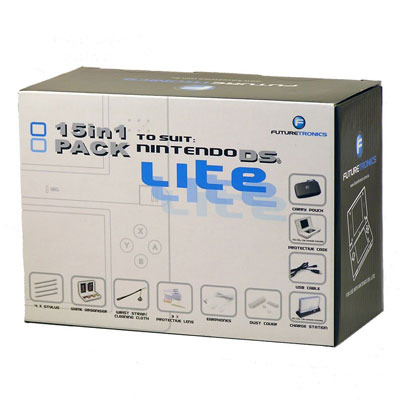 Futuretronics Lite 15 in 1 Pack for Nintendo DS
