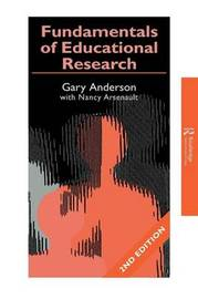 Fundamentals of Educational Research by Garry Anderson image