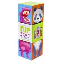 Crocodile Creek: Flip Zoo 3pcs Magnetic Block Puzzle - World Animals