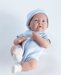 La Newborn - Real Boy Baby Doll - Blue (38cm) image