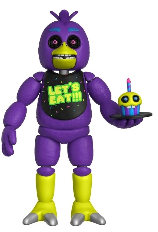 """Five Nights at Freddy's - Black Light Chica 5"""" Articulated Figure"""