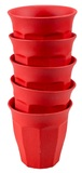 Set of 6 Bamboo Cappucino Cups - Red