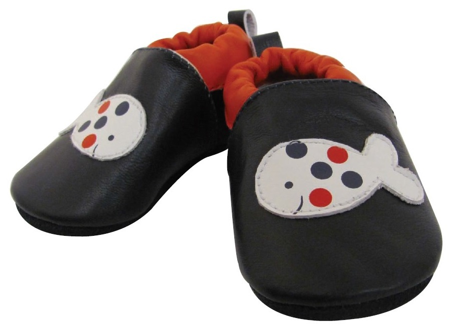 Hi-Hop Fishy Boy's Leather Padder Shoes (6-12 Months)