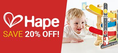 20% off Hape Toys!