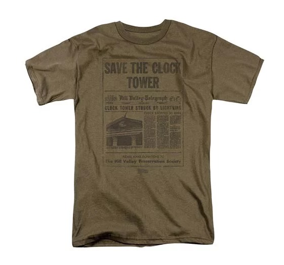 Back to the Future: Save The Clock Tower - Men's T-Shirt (Small)