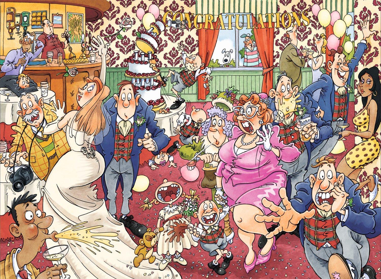 Wasgij: 1000 Piece Puzzle - Originals #29 (Catching Wedding Fever) image