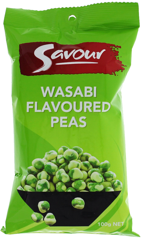 Savour Wasabi Peas 100g - 12 pack