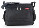 Skip Hop: Via Messenger Bag - Black