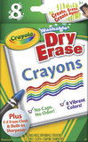 Crayola: 8 Washable Dry Erase Whiteboard Crayons