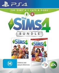 The Sims 4 plus Cats & Dogs Bundle for PS4