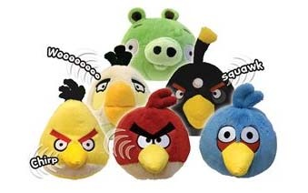 "Angry Birds: 5"" Plush Toy with Sound - green image"