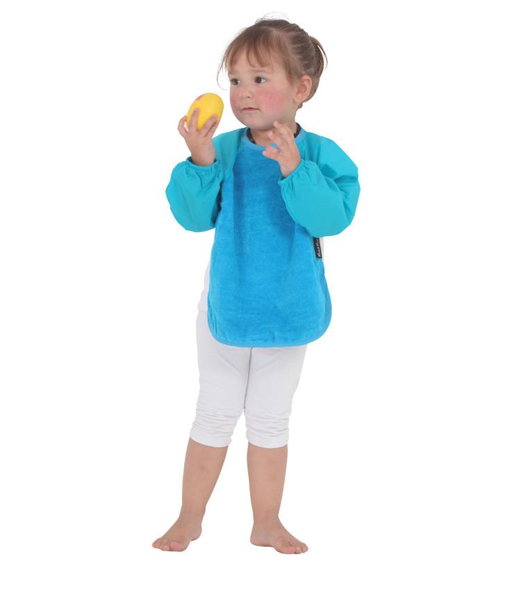 Mum 2 Mum Sleeved Wonder Bib (18-36 Months) - Teal image