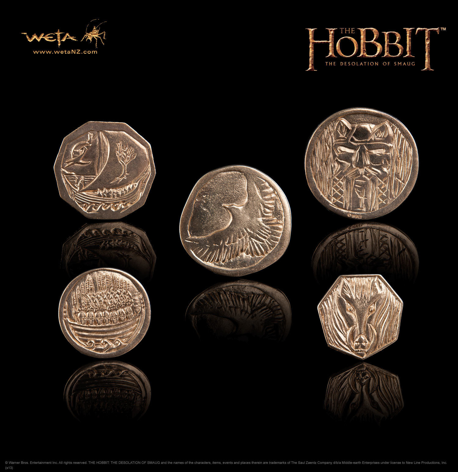 The Hobbit: Desolation of Smaug Treasure Coin Pouch - by Weta image