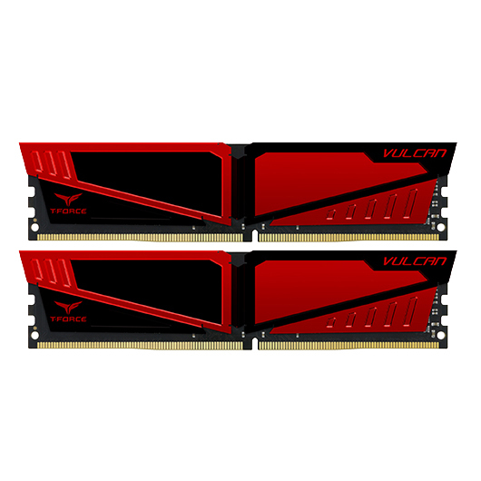 2x4GB T-Force Vulcan - Red 2400Mhz DDR4 RAM