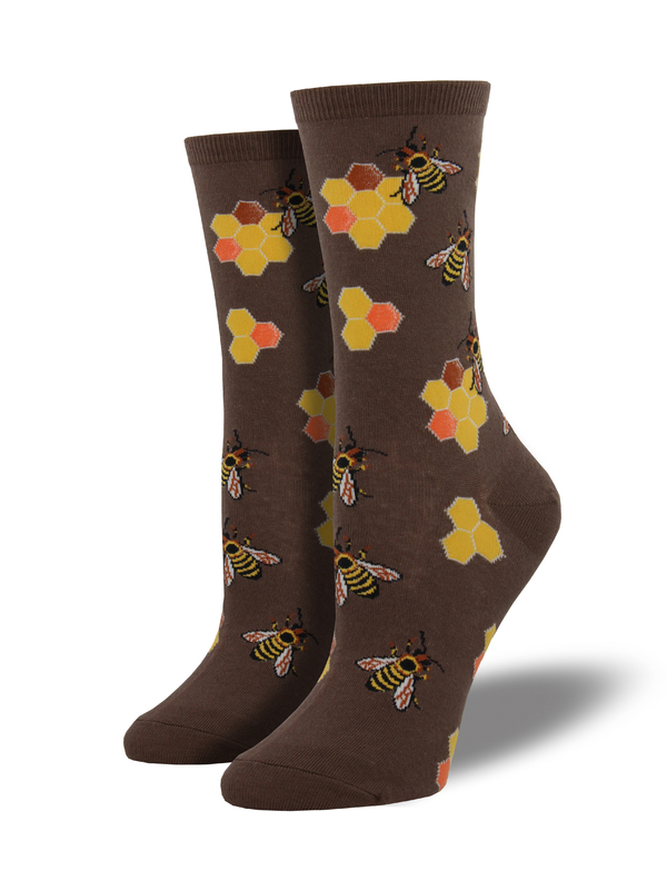 Socksmith: Busy Bees - Brown