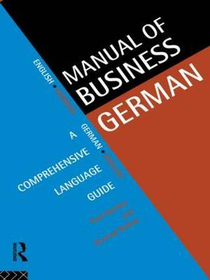 Manual of Business German by Paul Hartley image
