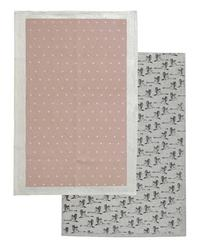 Raine & Humble Tea Towel - In Flight Champagne Pink Set of 2 (45X70cm)