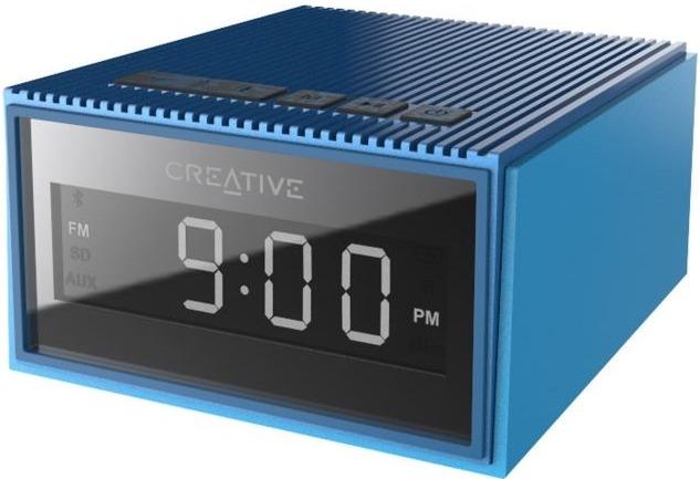 Creative Chrono Wireless Bluetooth Speaker and FM radio clock- Blue image